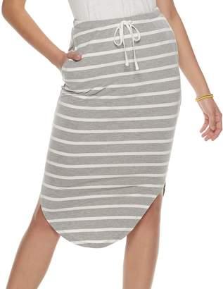 So Juniors' SO Curved Hem Midi Skirt
