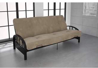 DHP Aiden Black Metal Futon Frame with Coil Full Futon Mattress, Multiple Colors and Sizes