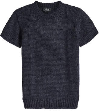 A.P.C. Dorothee Short Sleeve Pullover with Mohair