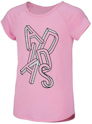 adidas Girls Round Neck Short Sleeve Graphic T-Shirt-Big Kid 7b9ee21c8