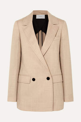BEIGE CASASOLA - Double-breasted Wool Blazer