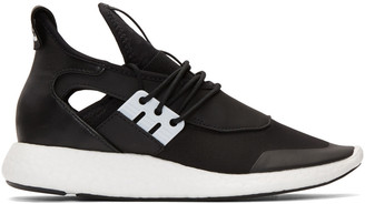 Y-3 Black Elle Run Sneakers $350 thestylecure.com