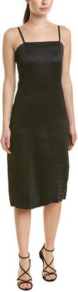 Tibi Accordion Silk-Lined Midi Dress