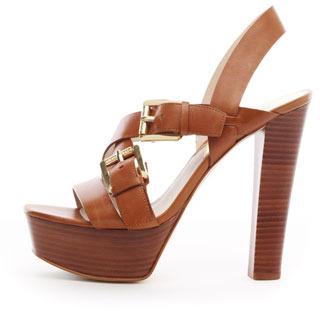 MICHAEL Michael Kors Josephine Leather Platform Sandal