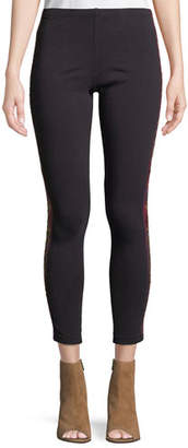 Johnny Was Marjan Stretch Cotton Leggings w/ Embroidery, Plus Size