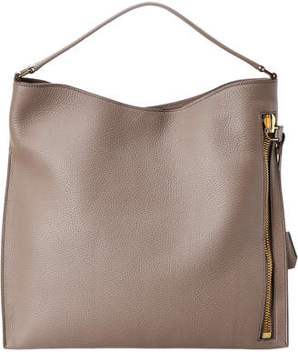 Tom Ford Alix Grained Leather Hobo