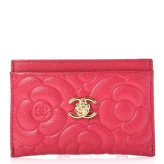 Chanel Card Holder Camellia Fuchsia
