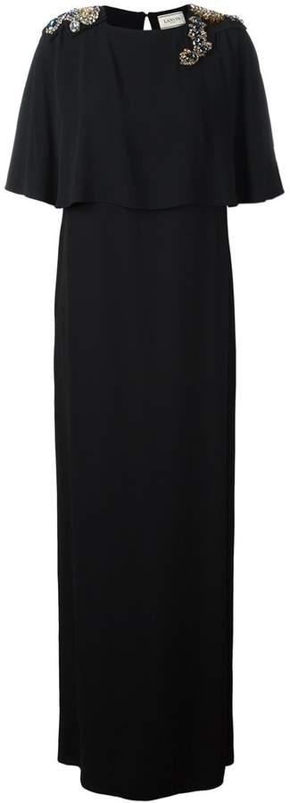 Lanvin embellished stone maxi dress