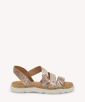 Sole Society Cc Corso Como CC Corso Como Women's Yasha Flat Strappy Sandals Platinum Size 5 Leather From