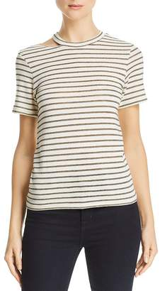 LnA Ono Metallic-Stripe Tee