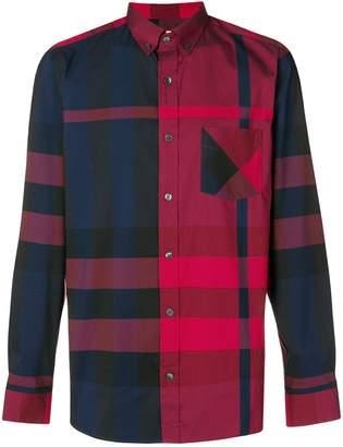 Burberry checked button shirt