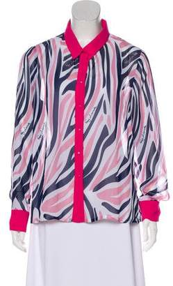 Guy Laroche Sheer Button-Up Top w/ Tags
