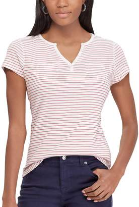 Chaps Women's Button-Accent Tee