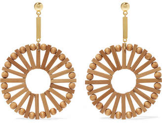 Cult Gaia Eva Bamboo And Gold-tone Earrings