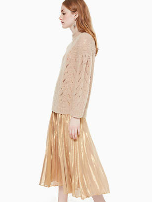 Kate Spade Metallic pleated midi skirt