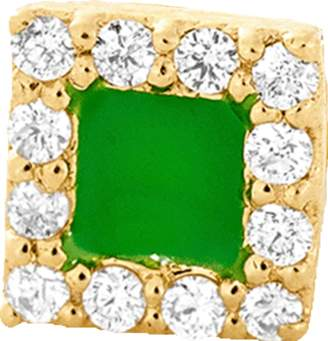 Alison Lou Green Enamel And Diamond Stud