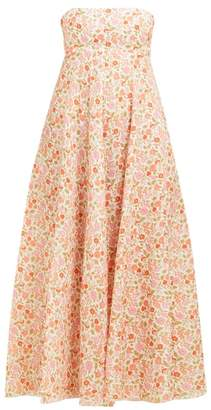 Zimmermann Goldie Floral Print Linen Dress - Womens - Pink