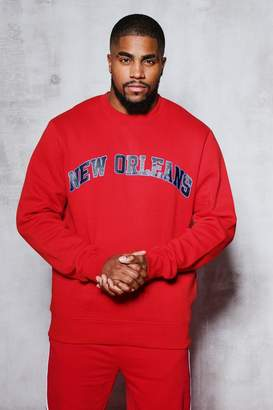 boohoo Big And Tall New Orleans Sweater