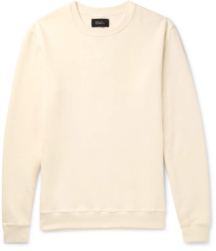 Howlin' Louis Fleece-Back Cotton-Jersey Sweatshirt
