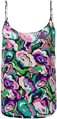 Emilio Pucci abstract floral cami