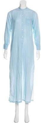 Nili Lotan Long Sleeve Maxi Dress