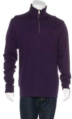 Burberry Mock Neck Zip Sweater