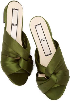 No.21 No. 21 Satin Twist-Front Sandals