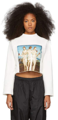 Perks And Mini White Three Graces Cropped Sweatshirt
