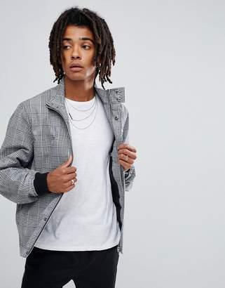 Asos DESIGN Harrington Jacket Co-Ord In Black and White Check