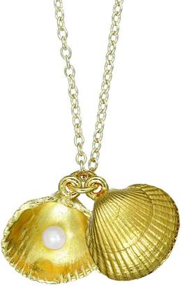 Chupi - There Is Magic Within Seashell Locket Maxi Necklace In Gold