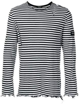 Balmain ripped bateau sweater