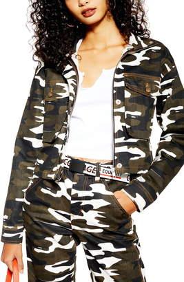 Topshop Camo Crop Jacket