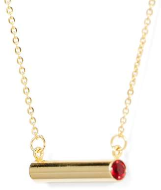 STELLA VALLE January Crystal Bar Pendant Necklace