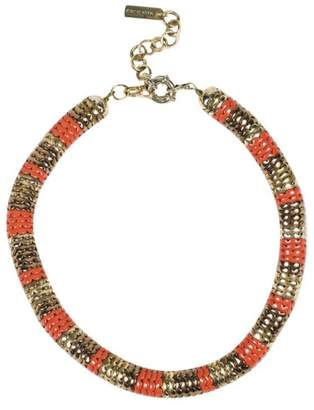 Etro Gold Tone Hardware and Red Resin Choker Necklace