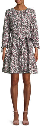 Kate Spade Wildflower Cotton Poplin Mini Dress