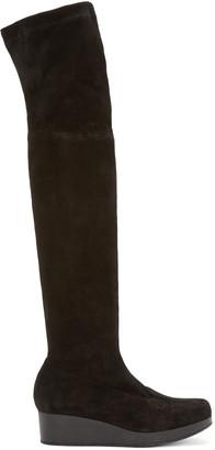 Robert Clergerie Black Suede Natul Boots $795 thestylecure.com