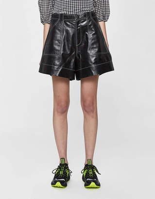 Ganni Lamb Leather Short