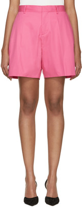 Dsquared2 Fuchsia Loe Kawaii Shorts $525 thestylecure.com