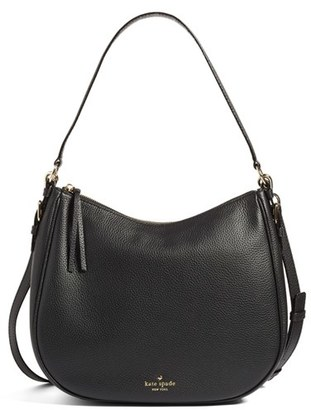Kate Spade New York Cobble Hill Mylie Leather Hobo - Black $298 thestylecure.com