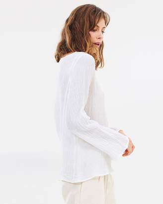 Joslyn Textured Linen Top