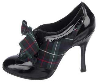 Louis Vuitton Patent Leather Plaid Booties