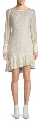 Derek Lam 10 Crosby Silk-Blend Asymmetrical Sheath Dress