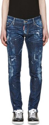 Dsquared2 Blue Distressed Clement Jeans $560 thestylecure.com