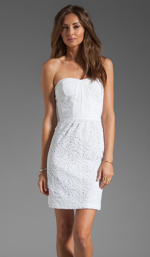 Rebecca Taylor Eyelet Strapless Dress