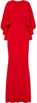 Alexander McQueen - Cape-effect Crepe Gown - Red