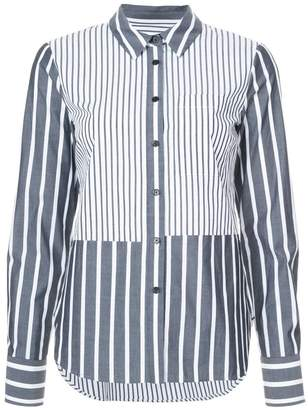 Derek Lam 10 Crosby Long Sleeve Button-Down Shirt With Ruffle Detail