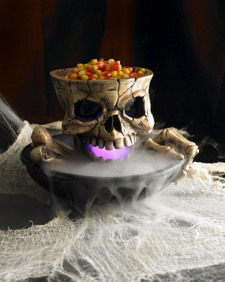 Horchow Halloween Skull & Cauldron