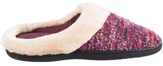Isotoner Boucle Knit Rachel Hoodback Slipper