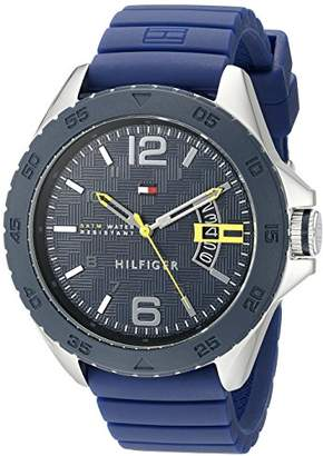 Tommy Hilfiger Men's 1791204 Stainless Steel Casual Sport Watch With Blue Silicone Band