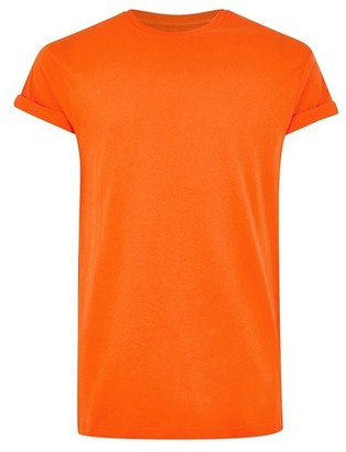 Topman Mens Orange Skinny Fit T-Shirt